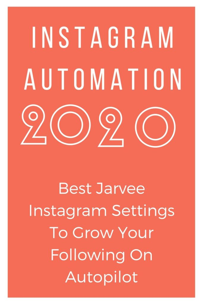 2020 Jarvee Instagram Settings