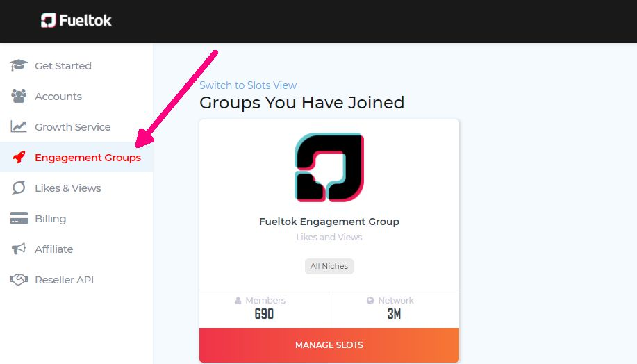 TikTok Bot engagement group