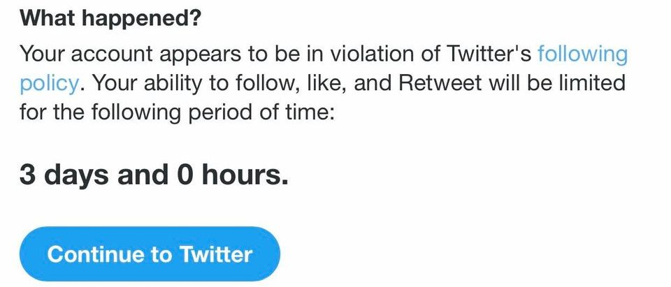 twitter 3 days follow limit restriction